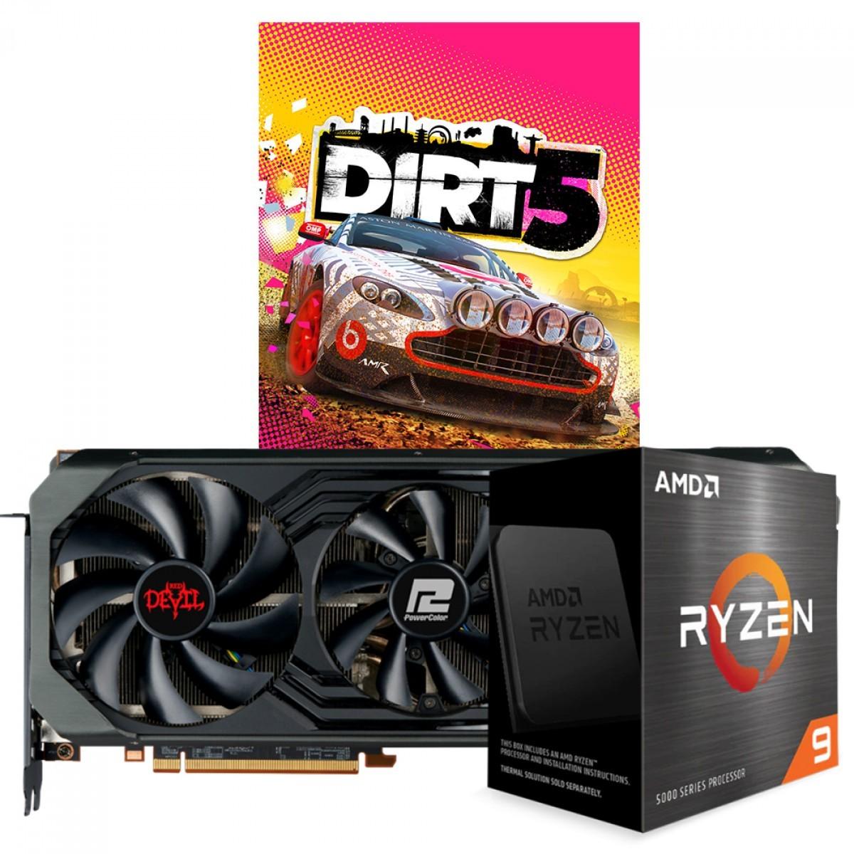 Kit Upgrade PowerColor Radeon RX 6900 XT Red Devil + AMD Ryzen 9 5900X + Brinde Jogo Dirt 5