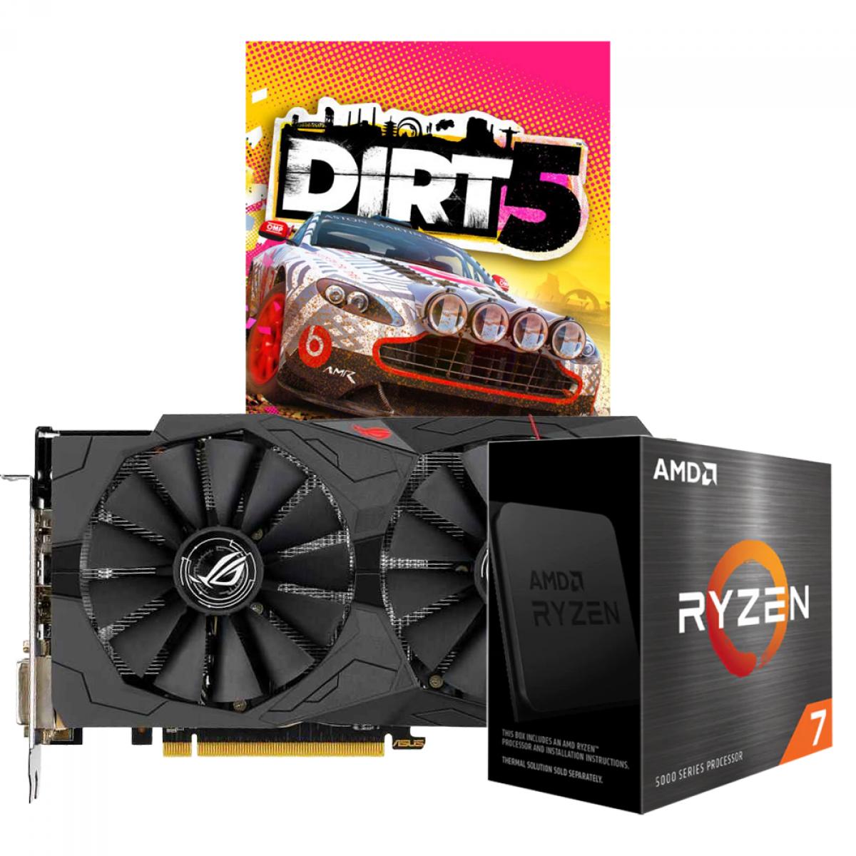 Kit Upgrade ASUS ROG STRIX RX 570 OC + AMD Ryzen 7 5800X + Brinde Jogo Dirt 5