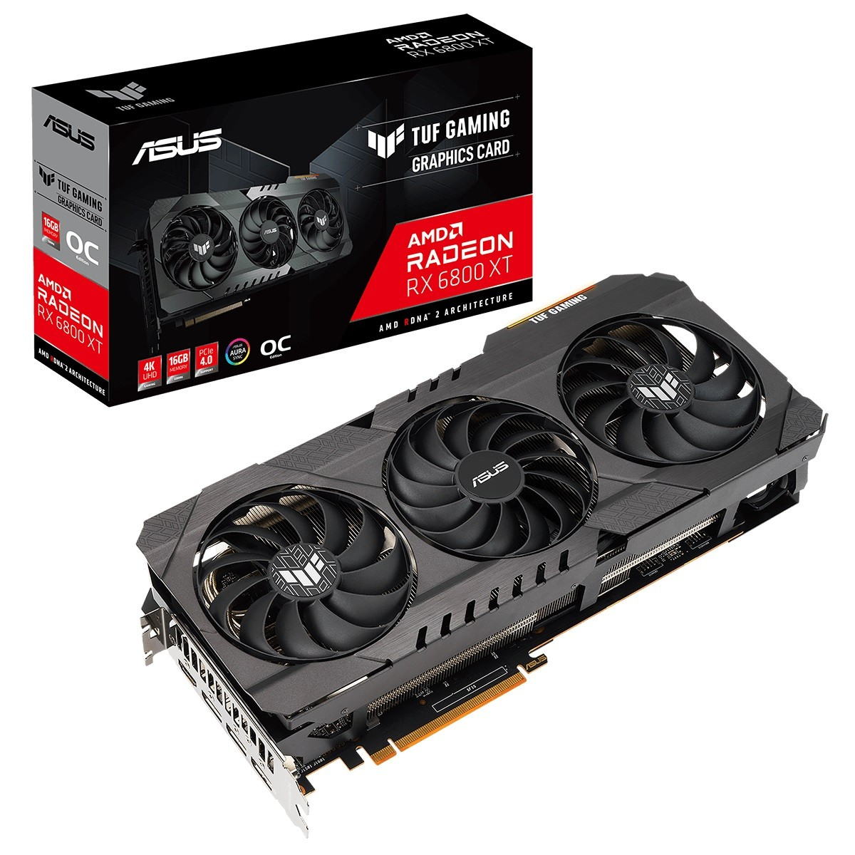 Kit Upgrade ASUS TUF Gaming Radeon RX 6800 XT + AMD Ryzen 7 3700X + Brinde Jogo Dirt 5