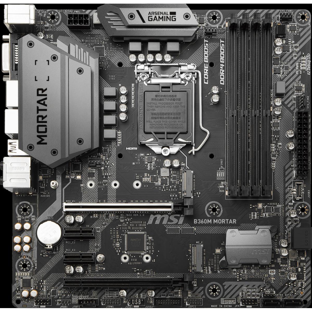 Kit Upgrade MSI B360M Mortar + Intel Core i7 9700K
