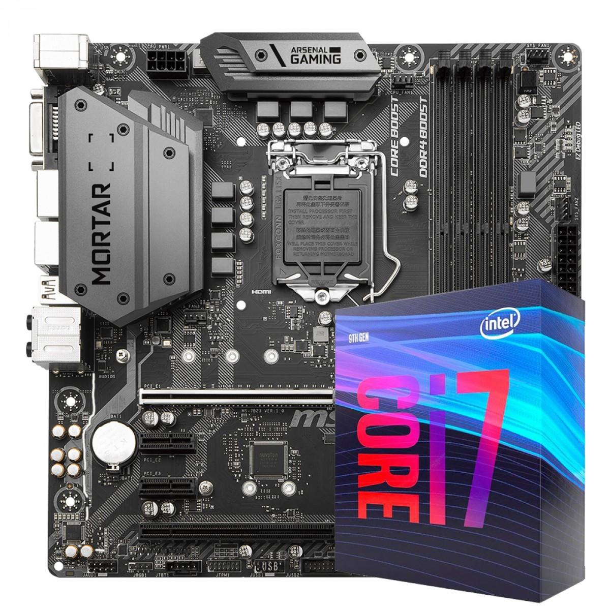 Kit Upgrade MSI B360M Mortar + Intel Core i7 9700