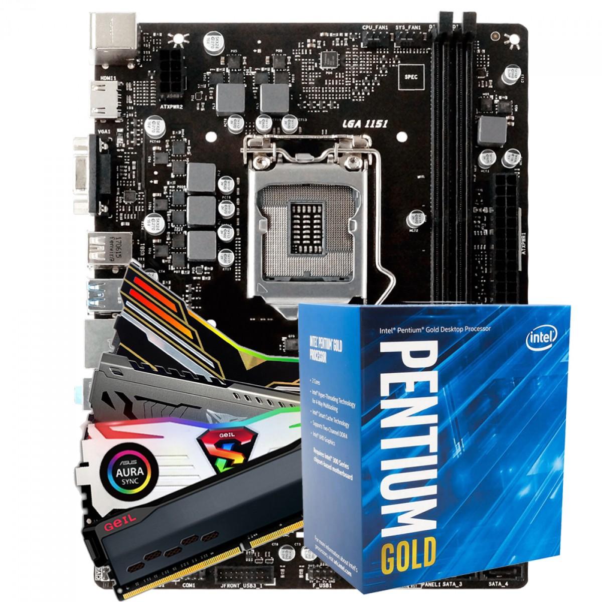 Kit Upgrade, Biostar H310MHP + Intel Pentium Gold G5420 + 8GB DDR4 3000MHz