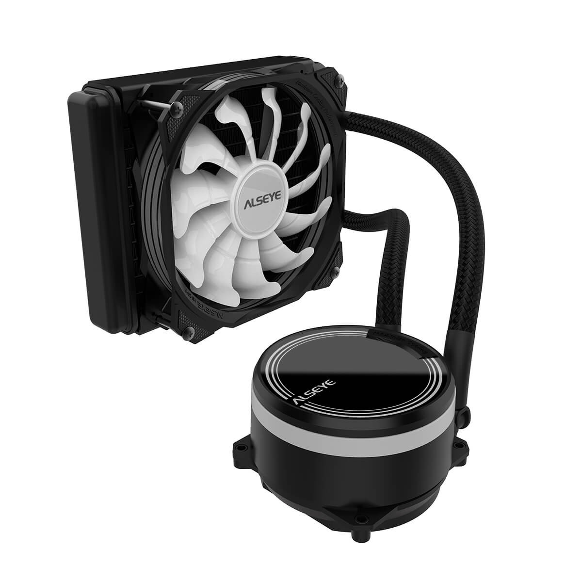 Water Cooler Alseye M120 Black, 120mm, RGB, Intel-AMD