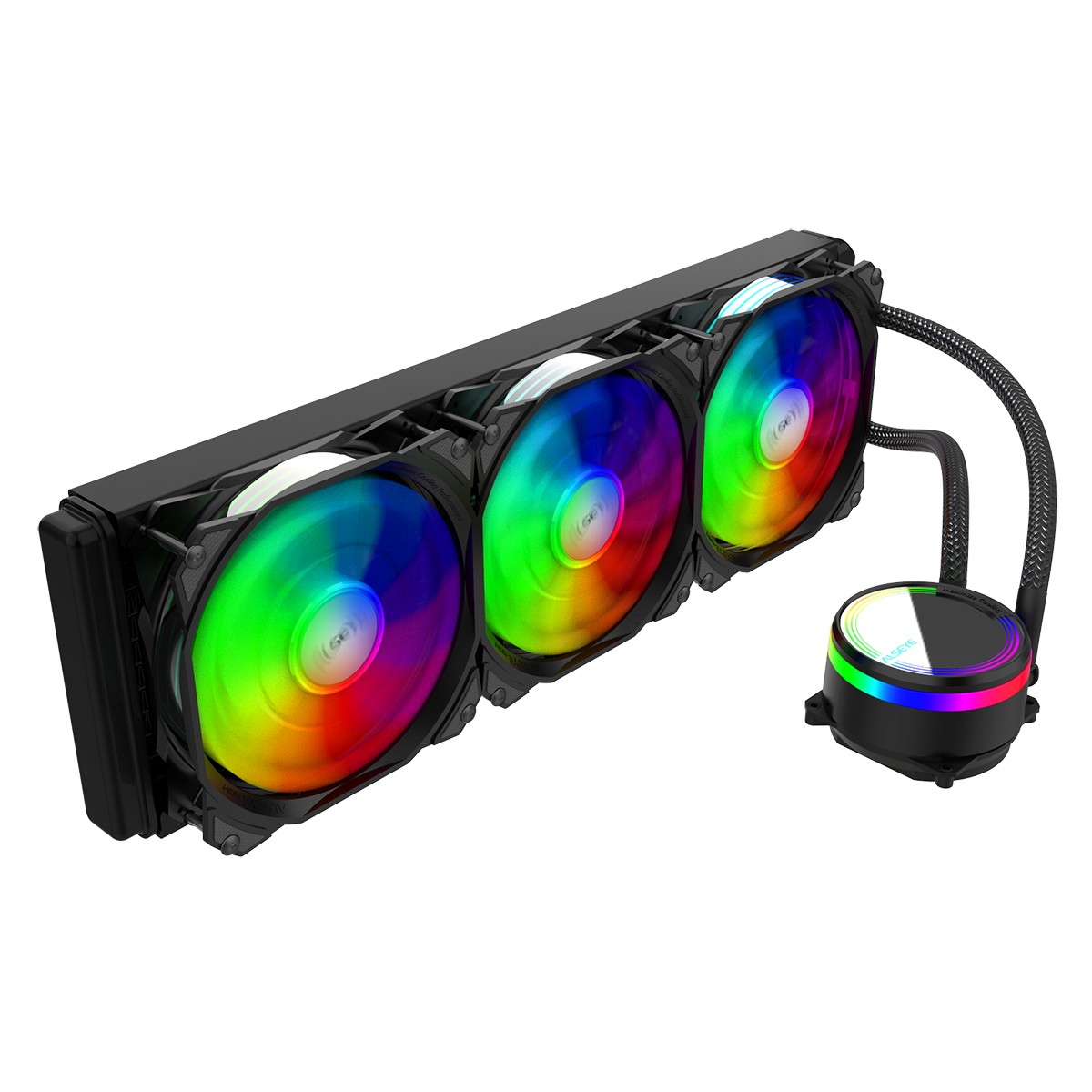 Water Cooler Alseye M360 Black, 360mm, RGB, Intel-AMD