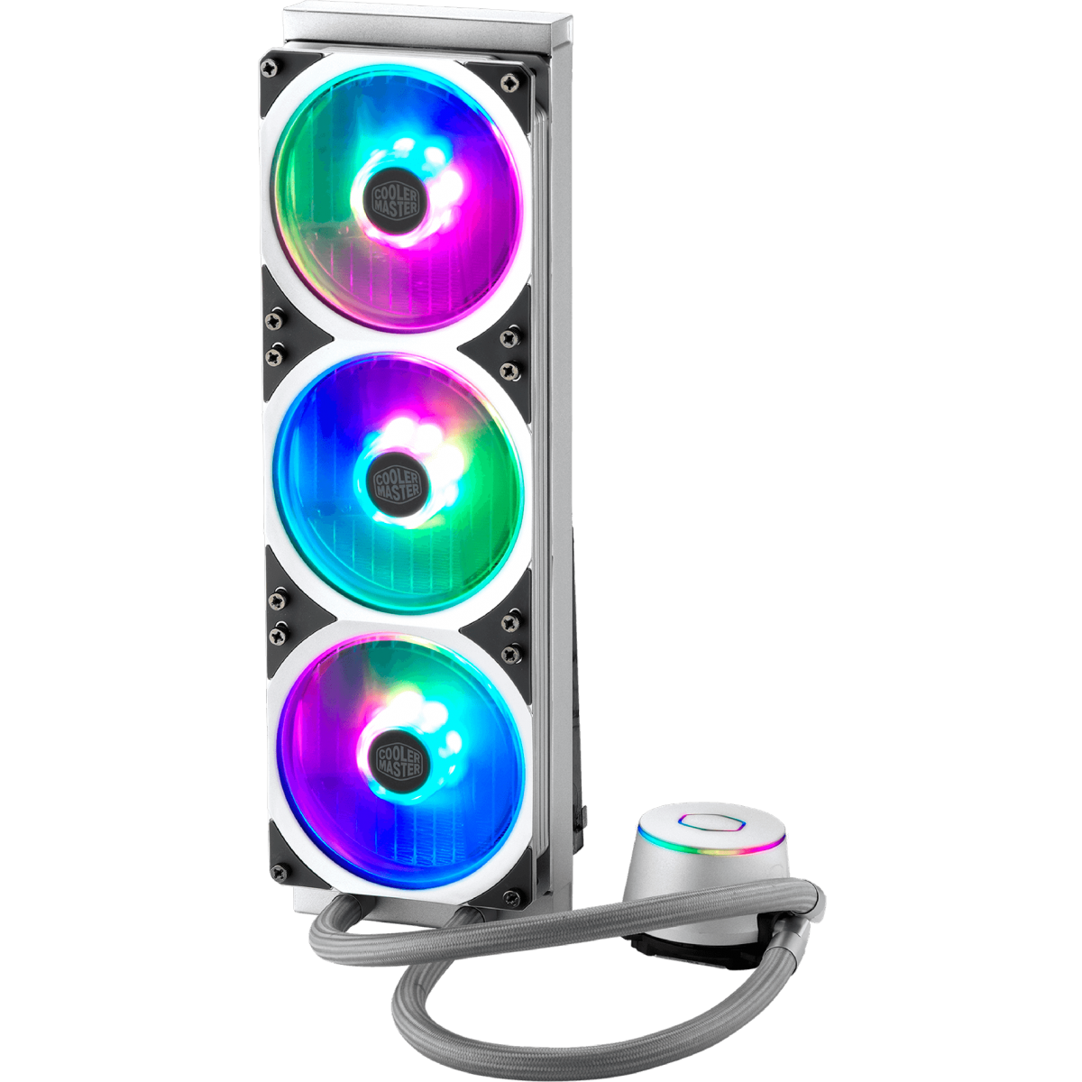 Water Cooler Cooler Master Master Liquid ML360P Silver Edition, RGB 360mm, Intel-AMD, MLY-D36M-A18PA-R1