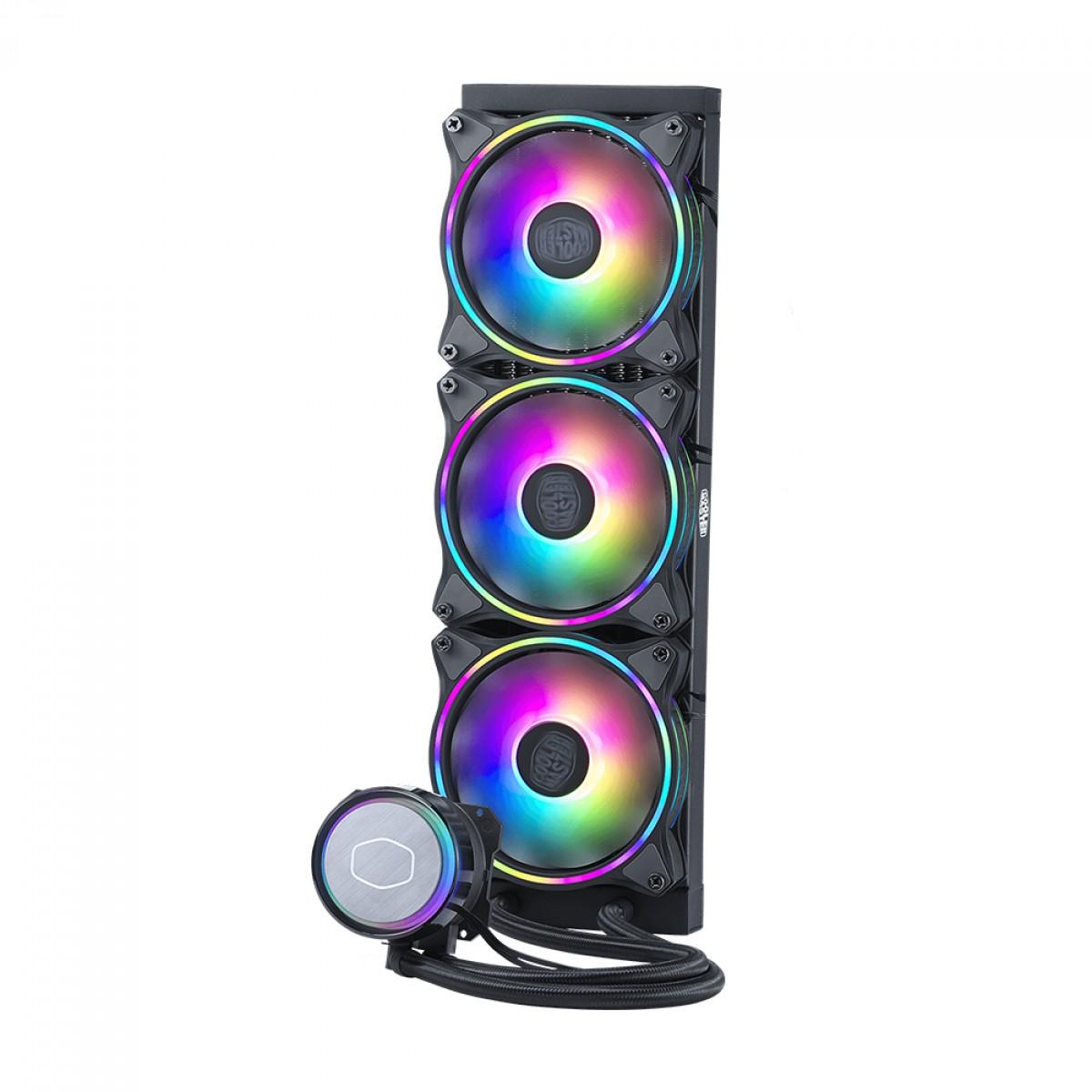 Water Cooler, Cooler Master Master Liquid ML360R ILLUSION, RGB 360mm, Intel-AMD, MLX-D36M-A18P2-R1
