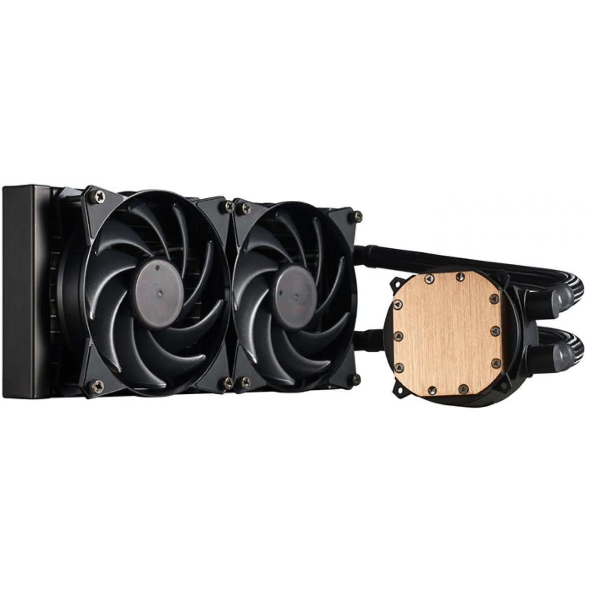 Water Cooler Cooler Master MasterLiquid, 240mm, Intel-AMD, MLX-D24M-A20PW-R1