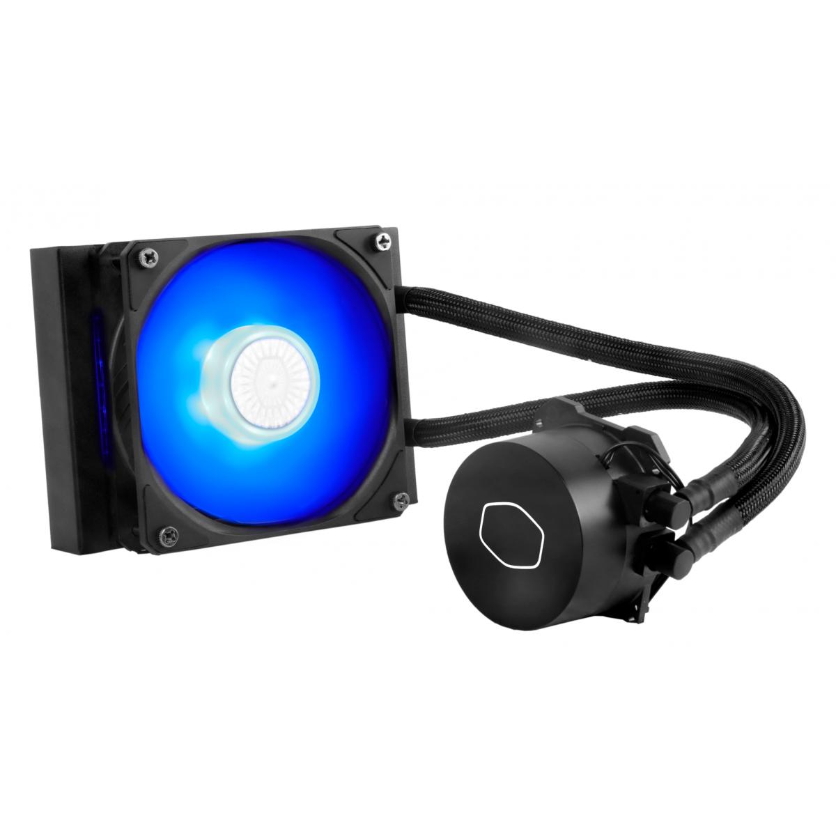 Water Cooler Cooler Master Masterliquid ML120L V2 Blue, 120mm, Intel-AMD, MLW-D12M-A18PB-R2