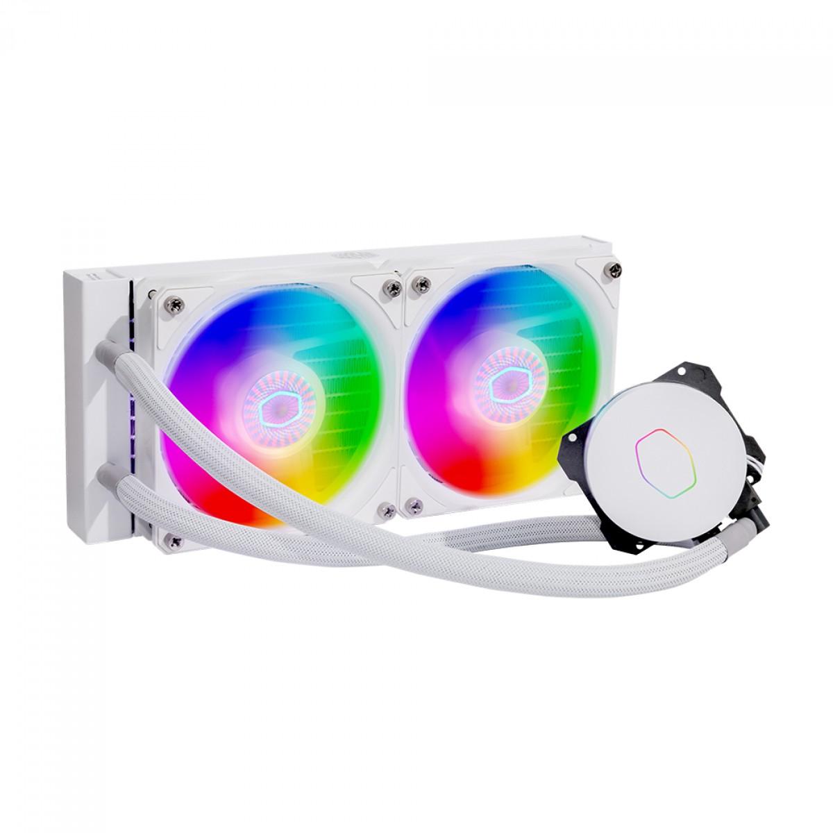 Water Cooler Cooler Master MasterLiquid ML240L, ARGB, White, 240mm, Intel-AMD, MLW-D24M-A18PW-RW