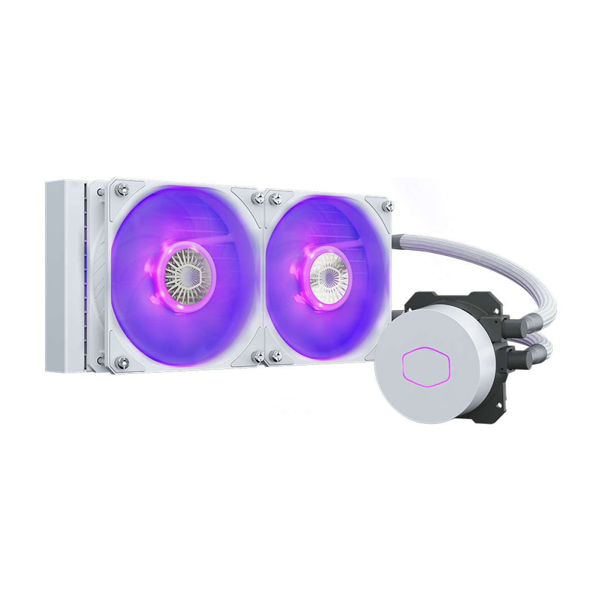 Water Cooler Cooler Master Masterliquid ML240L, RGB, White, 240mm, Intel-AMD, MLW-D24M-A18PC-RW