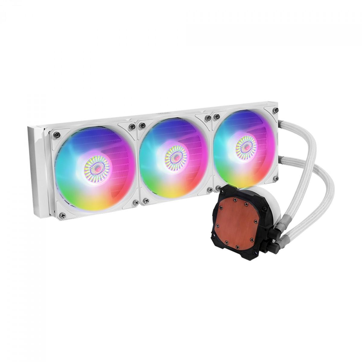 Water Cooler Cooler Master MasterLiquid ML360L V2, ARGB, White, 360mm, Intel-AMD, MLW-D36M-A18PW-RW