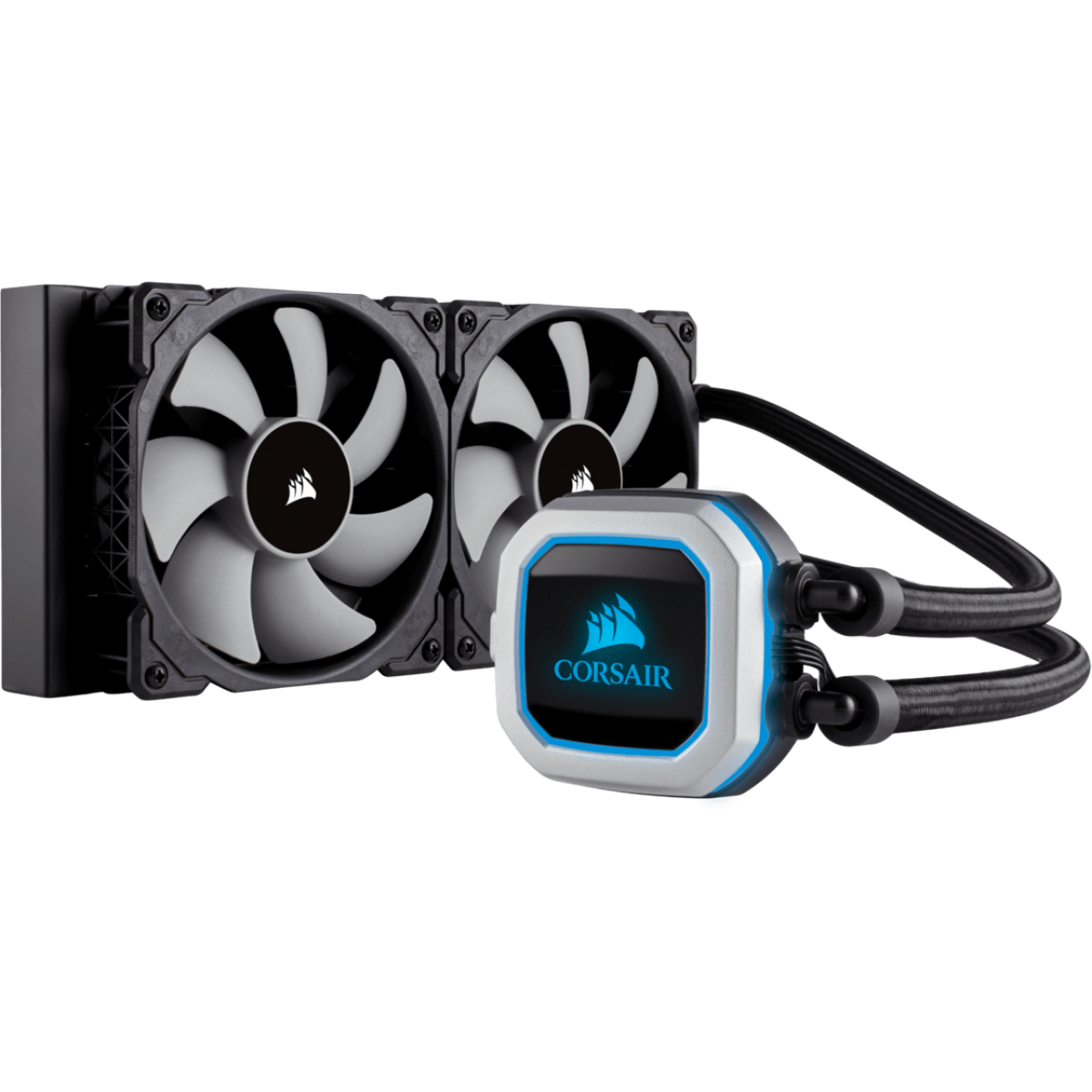 Water Cooler Corsair H100i Pro, RGB 240mm, Intel-AMD, CW-9060033-WW