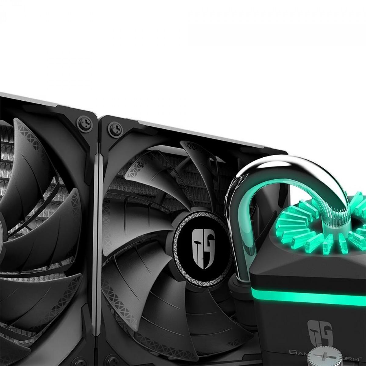 Water Cooler DeepCool Captain 240X RGB, 240mm, Intel-AMD, DP-GS-H12B-CT240XR