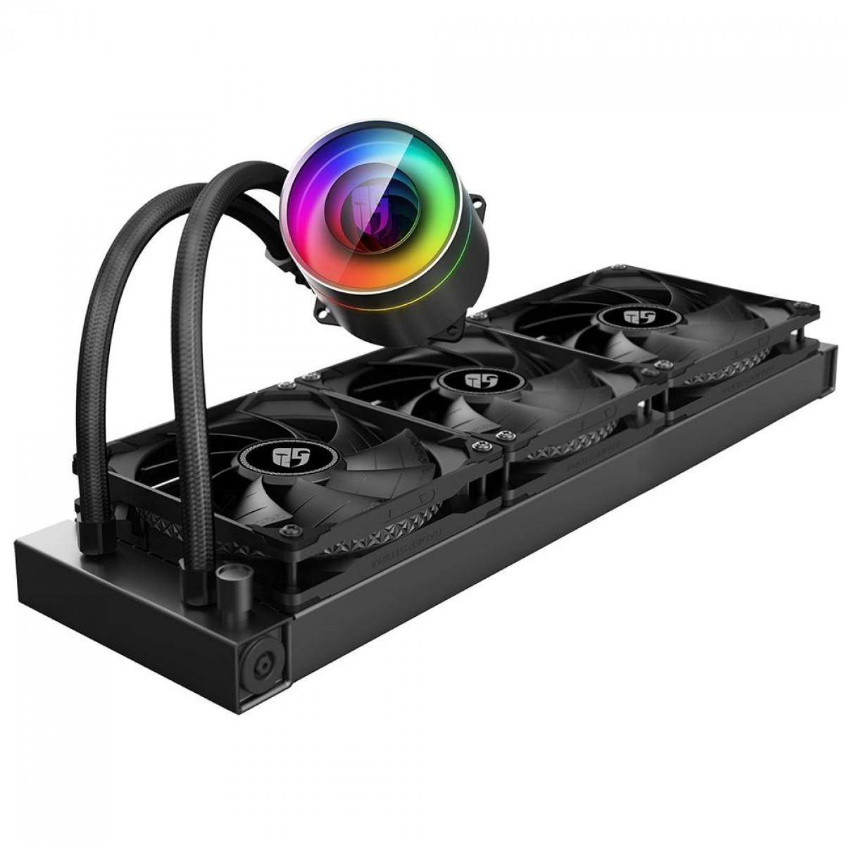 Water Cooler DeepCool Castle 360EX, RGB 360mm, Intel-AMD, DP-GS-H12-CSL360EX
