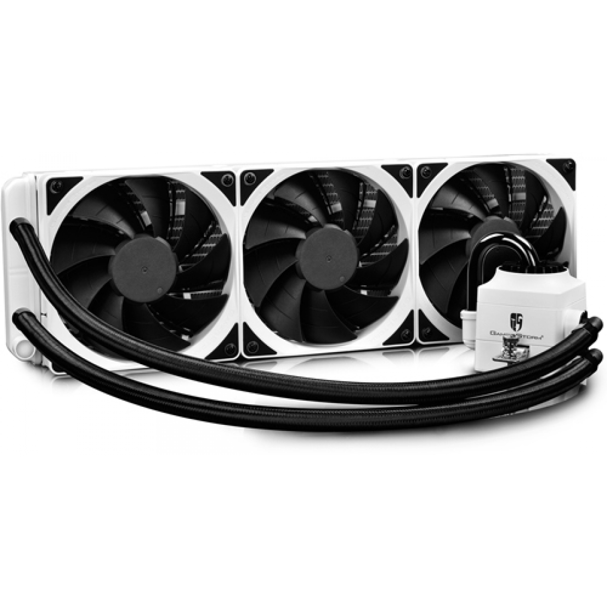 Water Cooler Deepcool Gamerstorm Captain 360EX, RGB 360mm, Intel-AMD, White, DP-GS-H12L-CT360RGB-WH