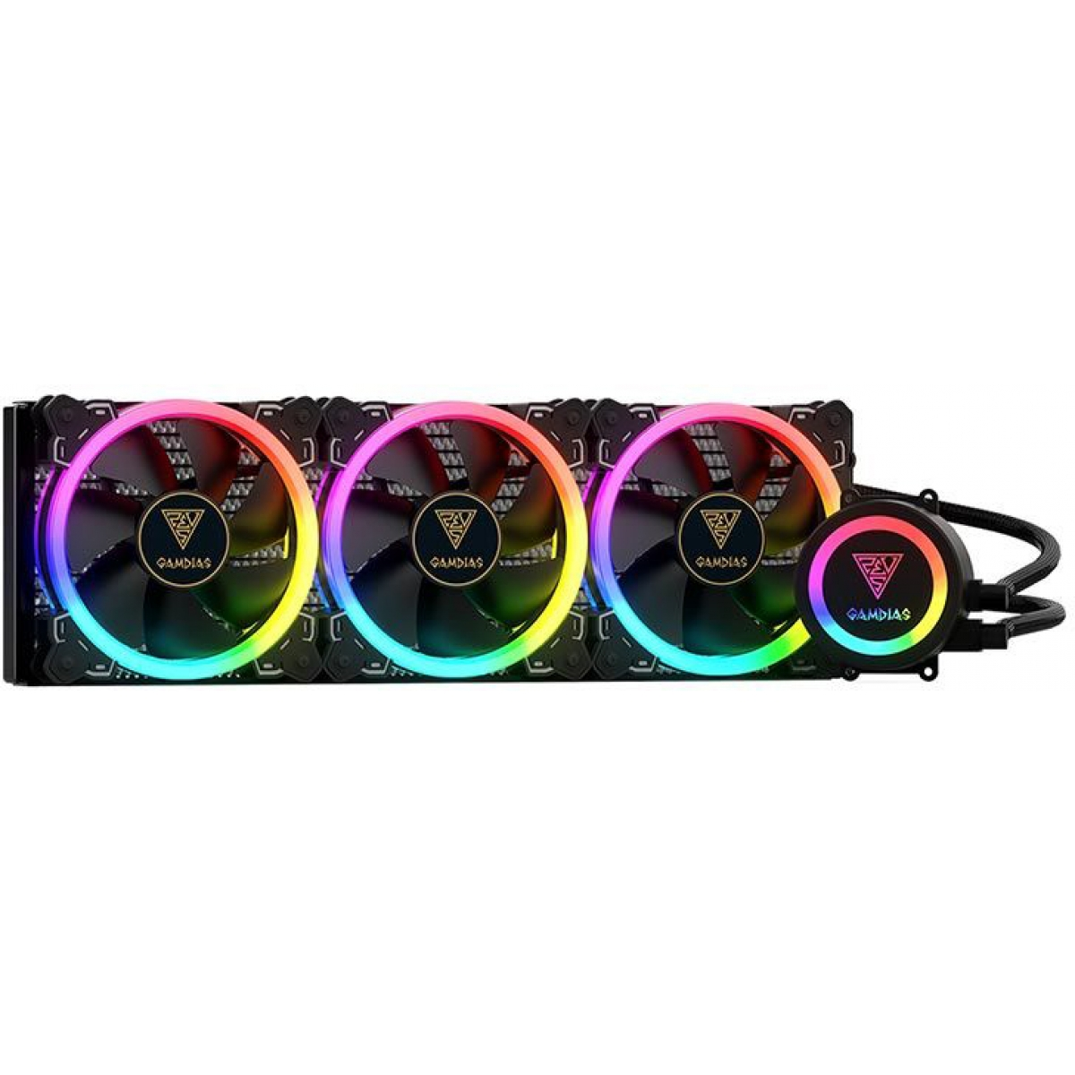 Water Cooler Gamdias Chione P1A 360R, RGB 360mm, Intel-AMD