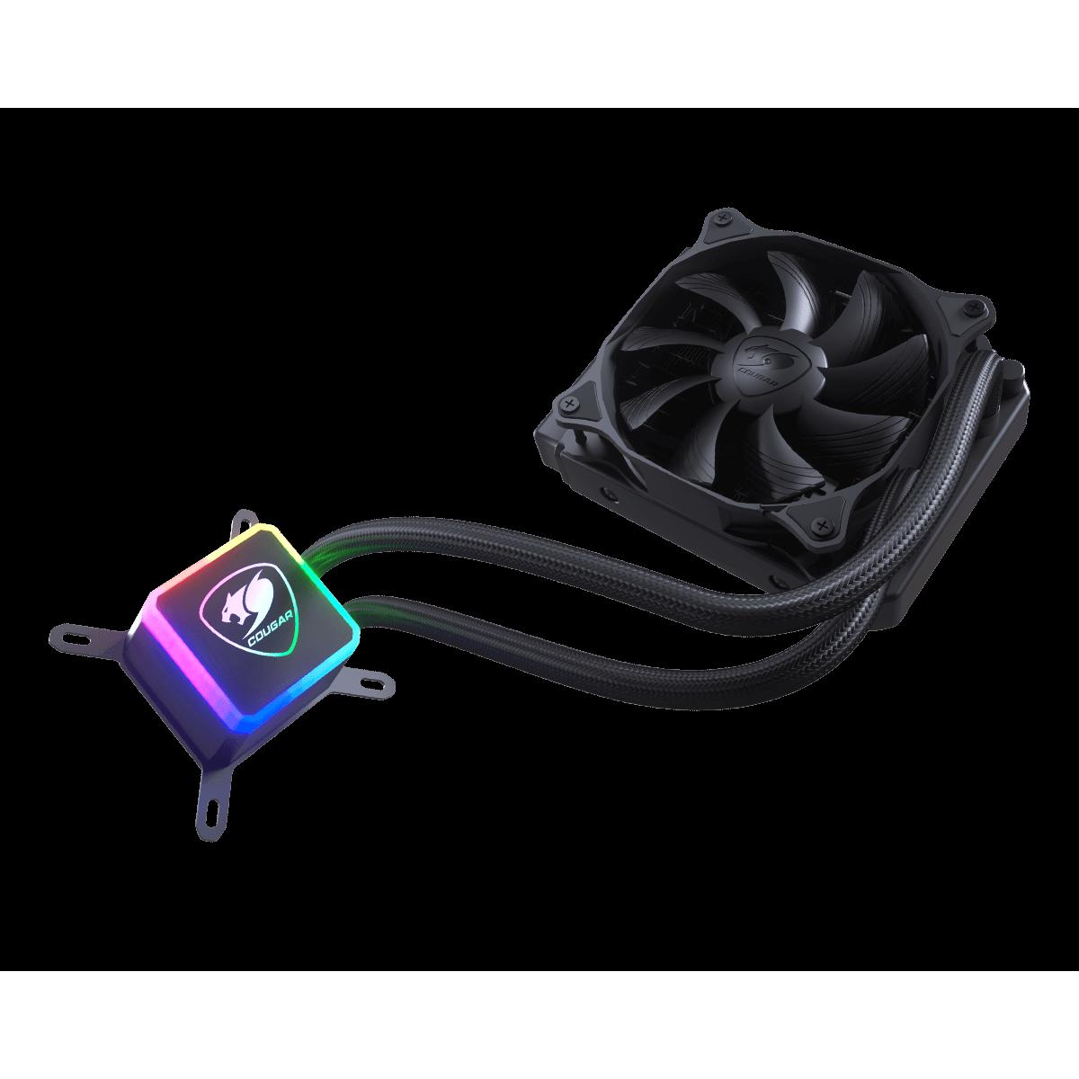 Water Cooler Gamer Cougar Aqua 120, RGB 120mm, Intel-AMD, 3MAQU120.0001