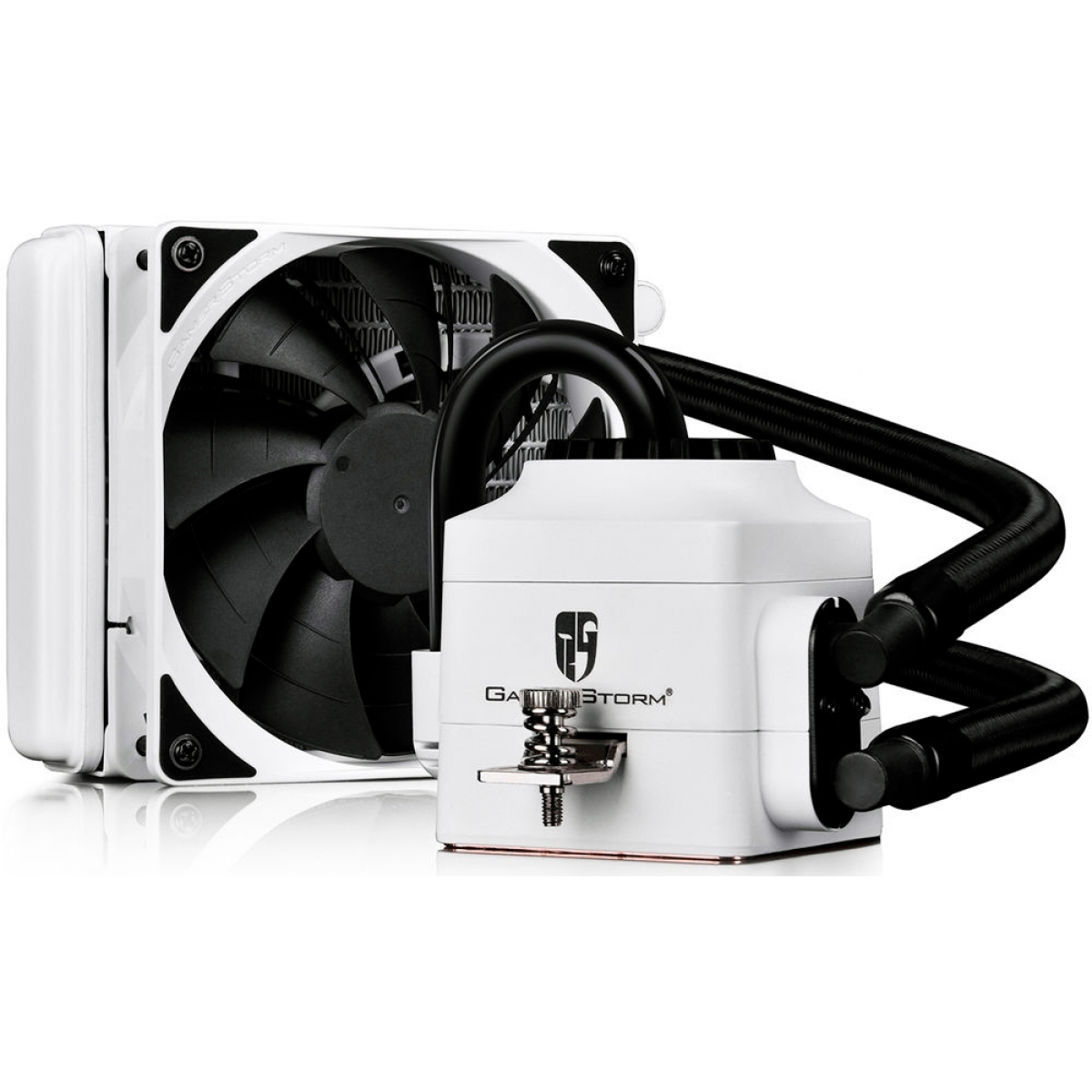 Water Cooler Gamer Storm DeepCool Captain 120EX, 120mm, Intel-AMD, White, DP-GS-H12L-CT120WA4