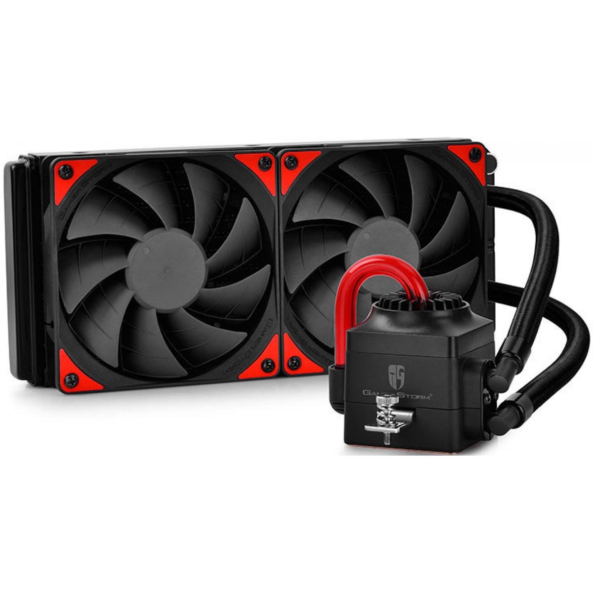 Water Cooler Gamer Storm DeepCool Captain 240EX, Red 240mm, Intel-AMD, DP-GS-H12L-CT240A4