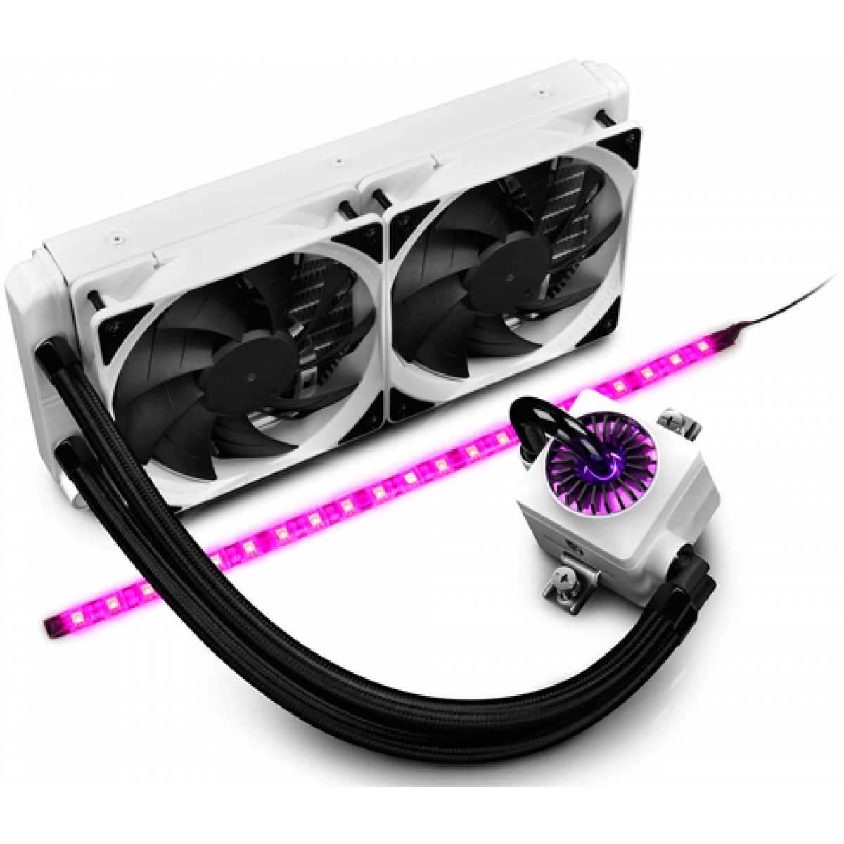 Water Cooler Gamer Storm DeepCool Captain 240EX, RGB 240mm, Intel-AMD, White, DP-GS-H12L-CT240RGB-WH