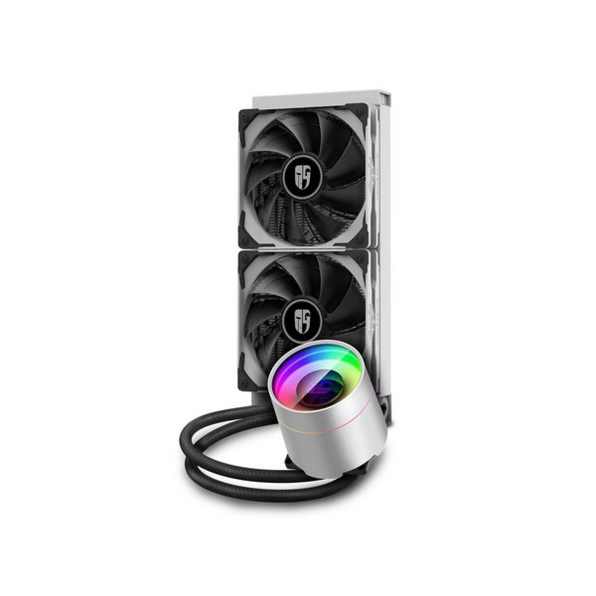 Water Cooler Gamer Storm DeepCool Castle 240 EX WH, ARGB, Intel-AMD, White, DP-GS-H12W-CSL240EXWH