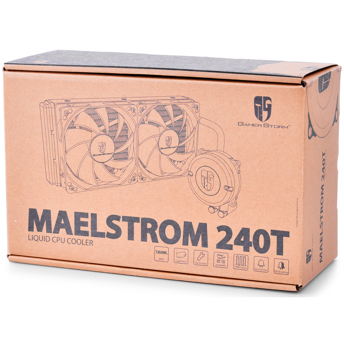 Water Cooler Gamer Storm DeepCool Maelstrom 240T, 240mm, Intel-AMD, DP-GS-H12RL-MS240TWFAM4