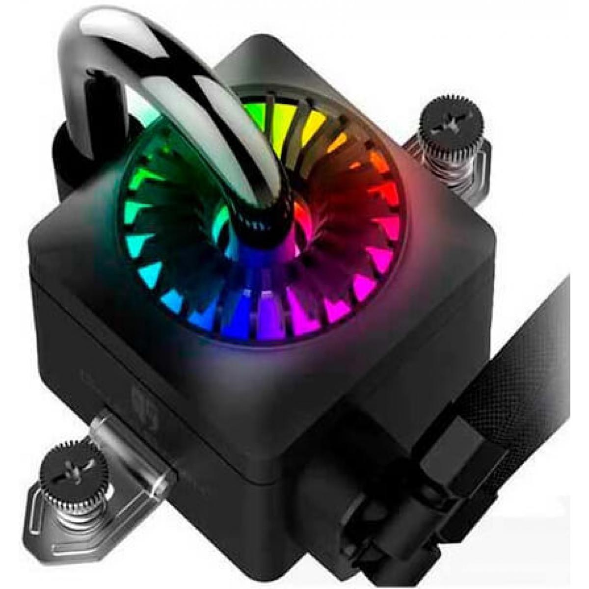 Water Cooler Gamer Storm Deepcool Captain 240 EX, RGB 240mm, Intel-AMD, DP-GS-H12L-CT240RGB