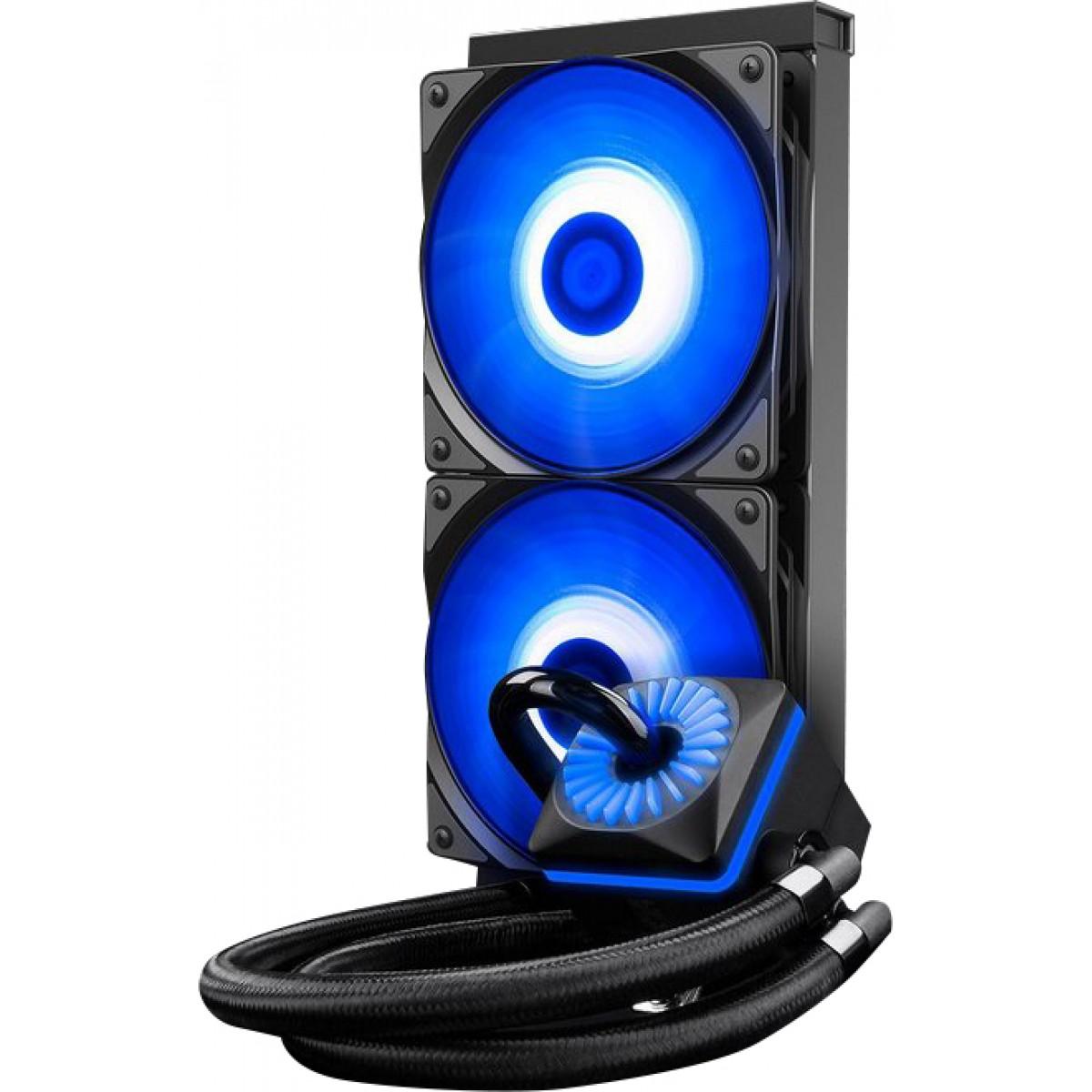 Water Cooler Gamer Storm DeepCool Captain 240EX V2 RGB 240mm, Intel-AMD, Black, DP-GS-H12L-CT240RV2