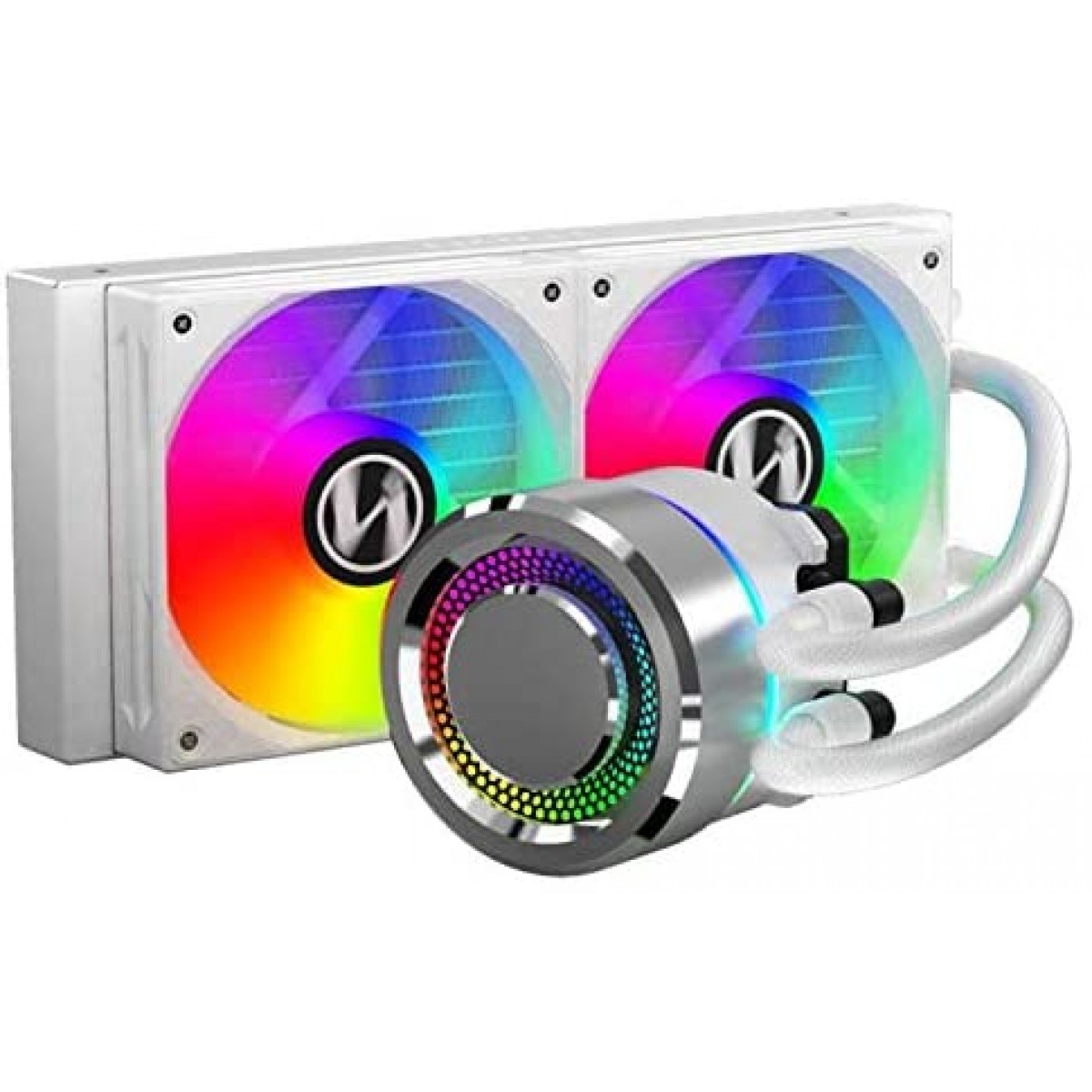 Water Cooler Lian Li, Galahad, RGB 240mm, Intel-AMD, White, GA-240A WHITE