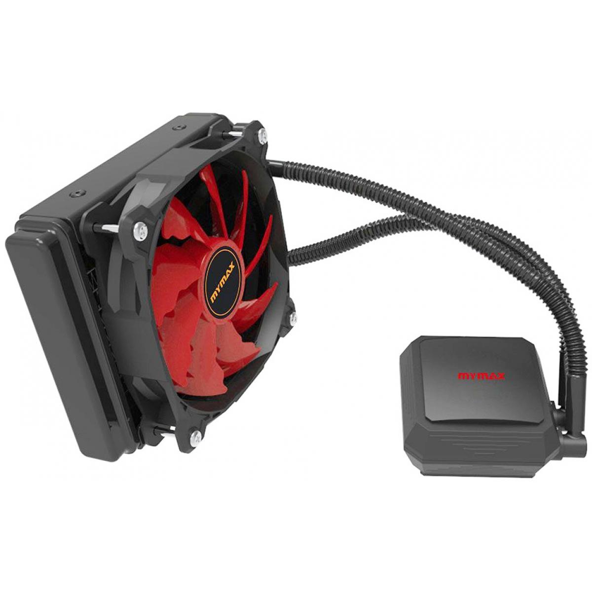 Water Cooler Mymax Algor, LED Red 120mm, Intel-AMD, MYC-FC-V2-120MM/RD