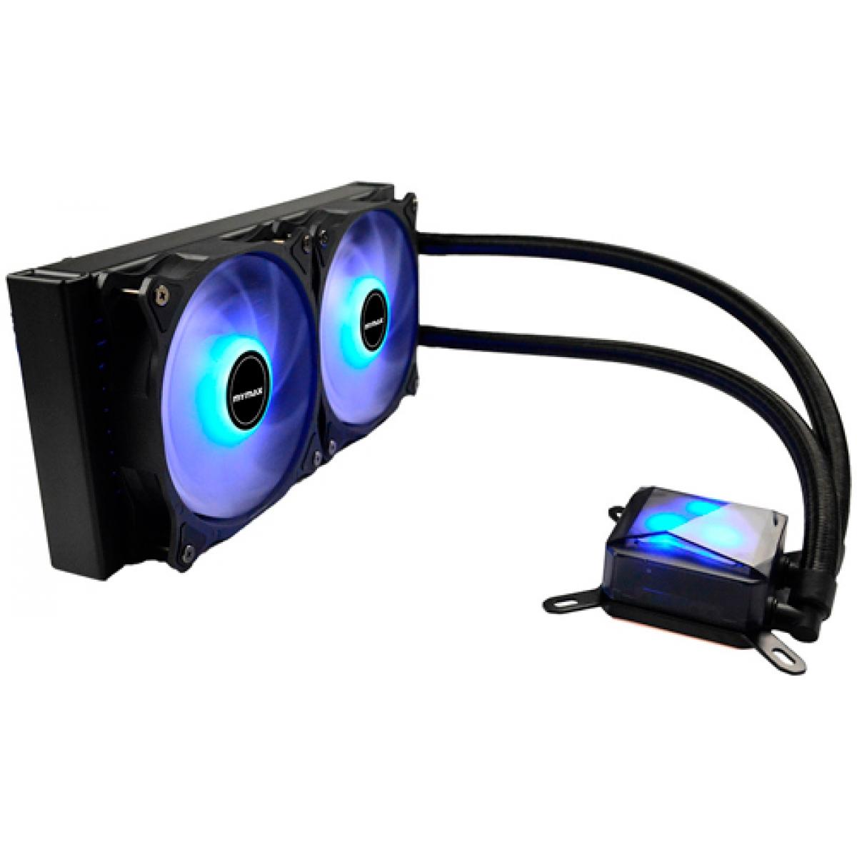 Water Cooler Mymax Algor, LED Blue 240mm, Intel-AMD, MYC-FC-V2-240-BL
