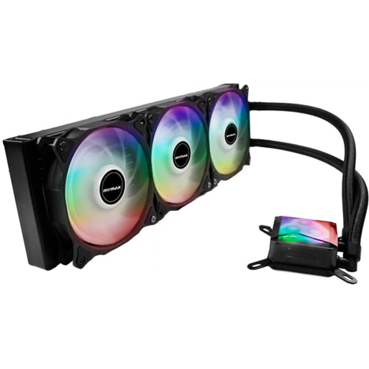 Water Cooler Mymax Algor, RGB 360mm, Intel-AMD, MYC-FC-V2-360-RGB