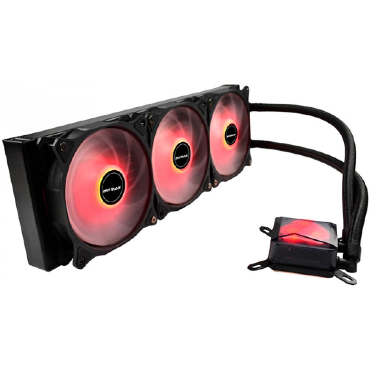Water Cooler Mymax Algor, LED Red 360mm, Intel-AMD, MYC-FC-V2-360-RD