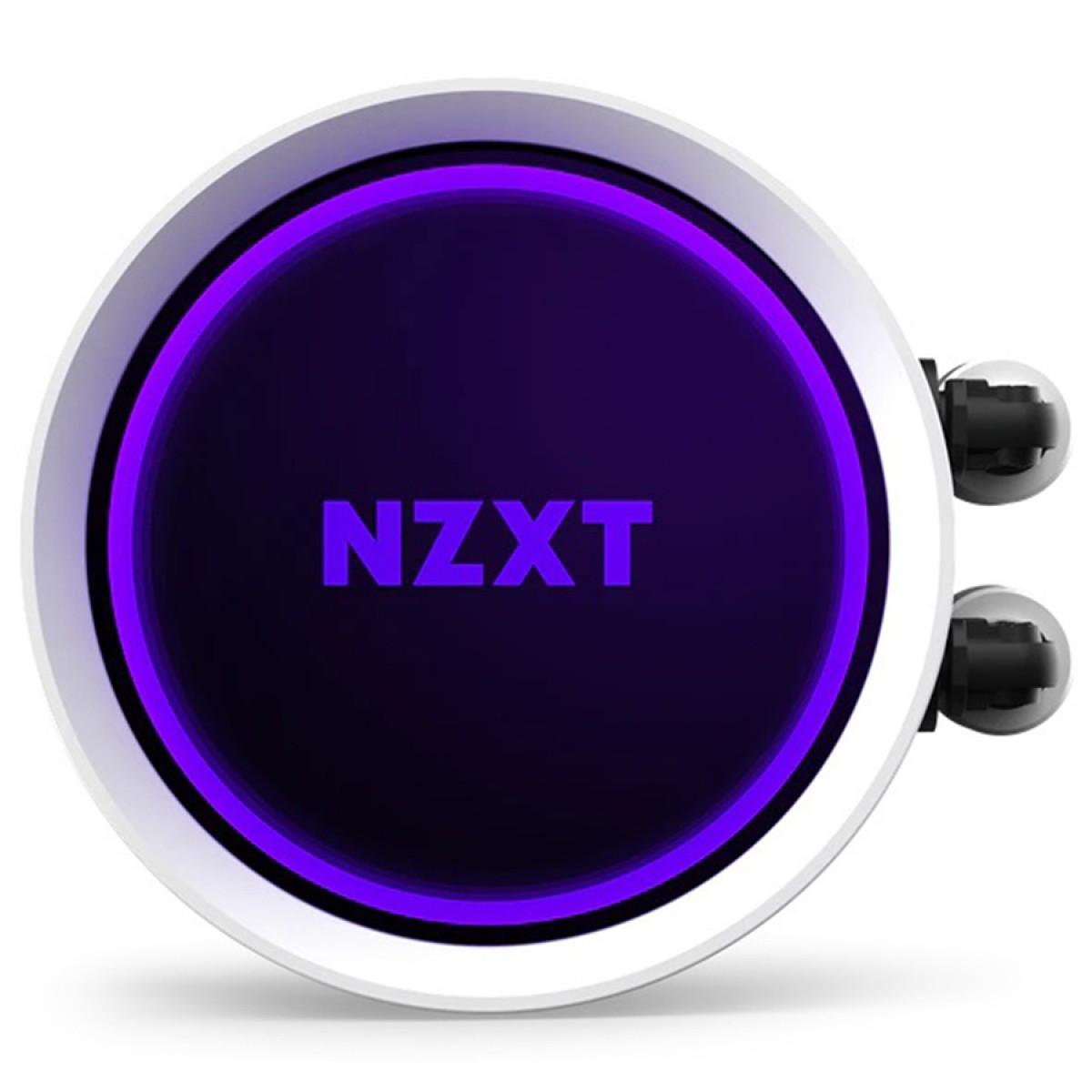 Water Cooler NZXT Kraken X53, RGB, 240mm, White, INTEL/AMD, RL-KRX53-RW