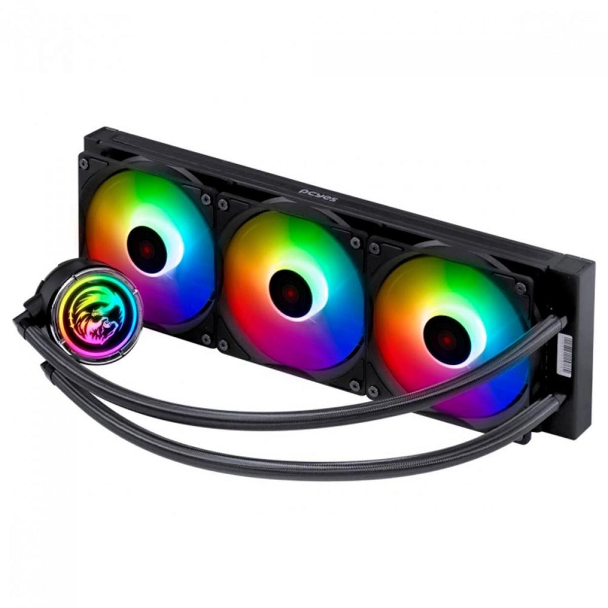 Water Cooler PCYES NIX 2 ARGB, 360mm, Intel-AMD, PCYWCNIX360