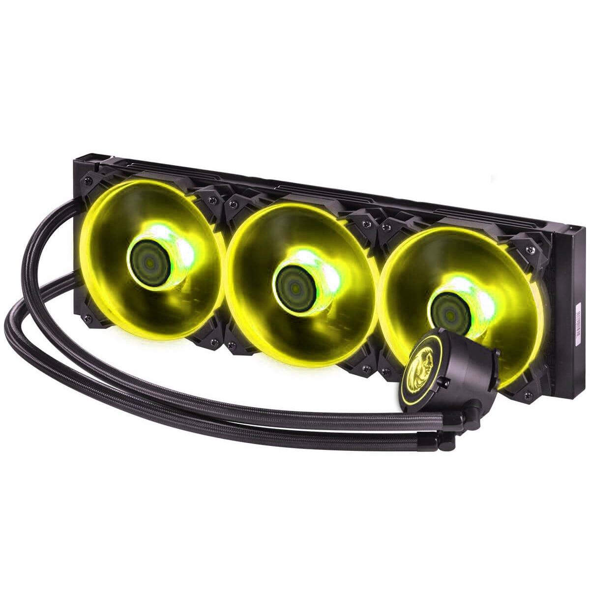 Water Cooler PCYES Nix, RGB 360mm, Intel-AMD, PWC360H40PTRGB