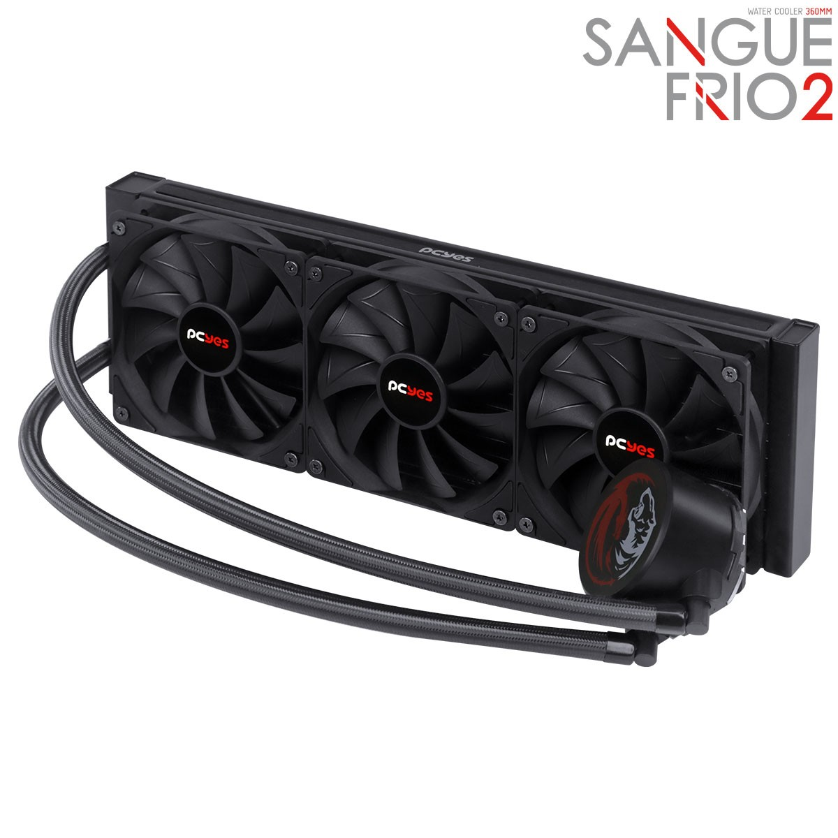 Water Cooler PCYes Sangue Frio 2, 360mm, Intel-AMD, PSF2360H60PTSL