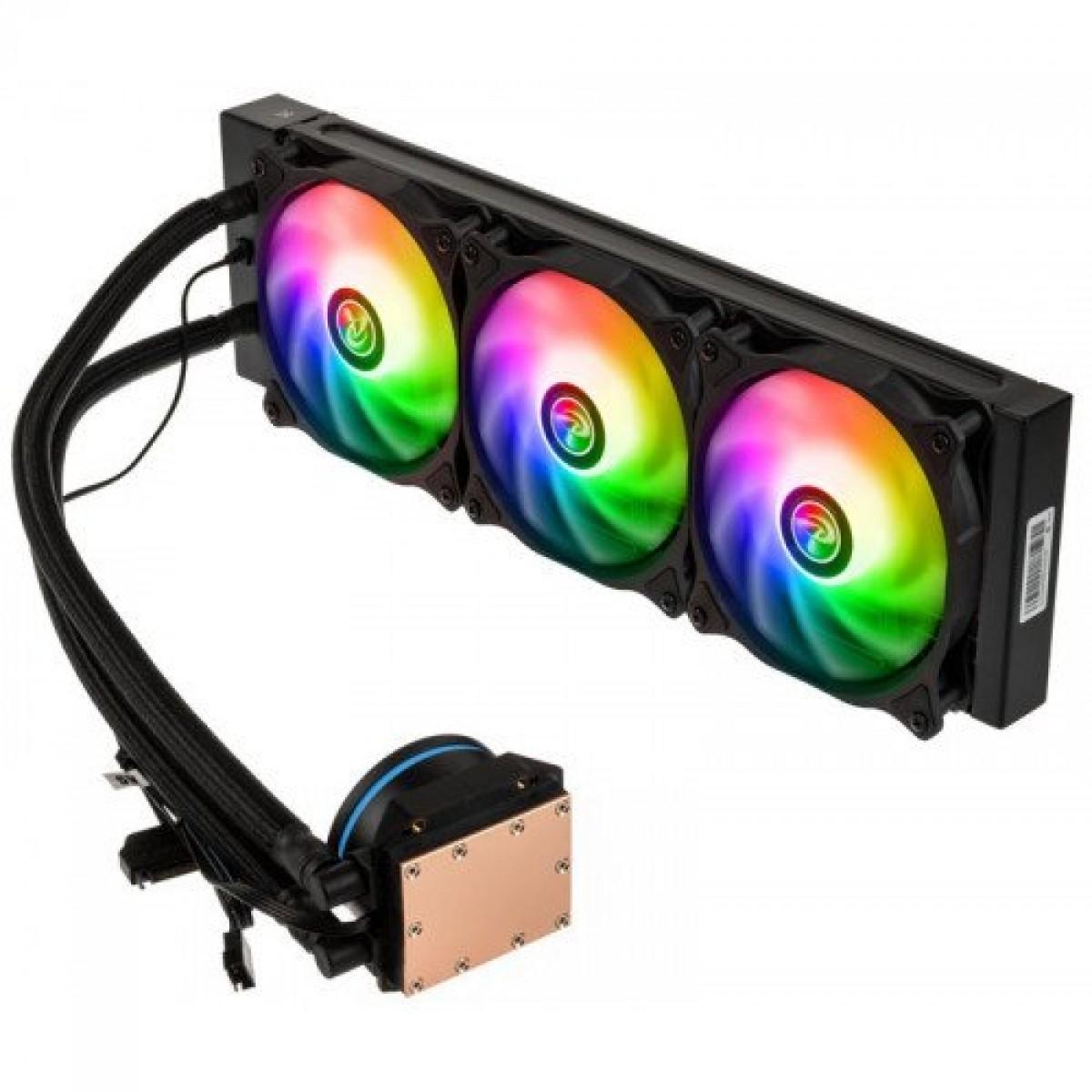 Water Cooler Raijintek EOS 360 RBW, 360mm, ARGB, Intel-AMD, 0R10B00181 - Open Box