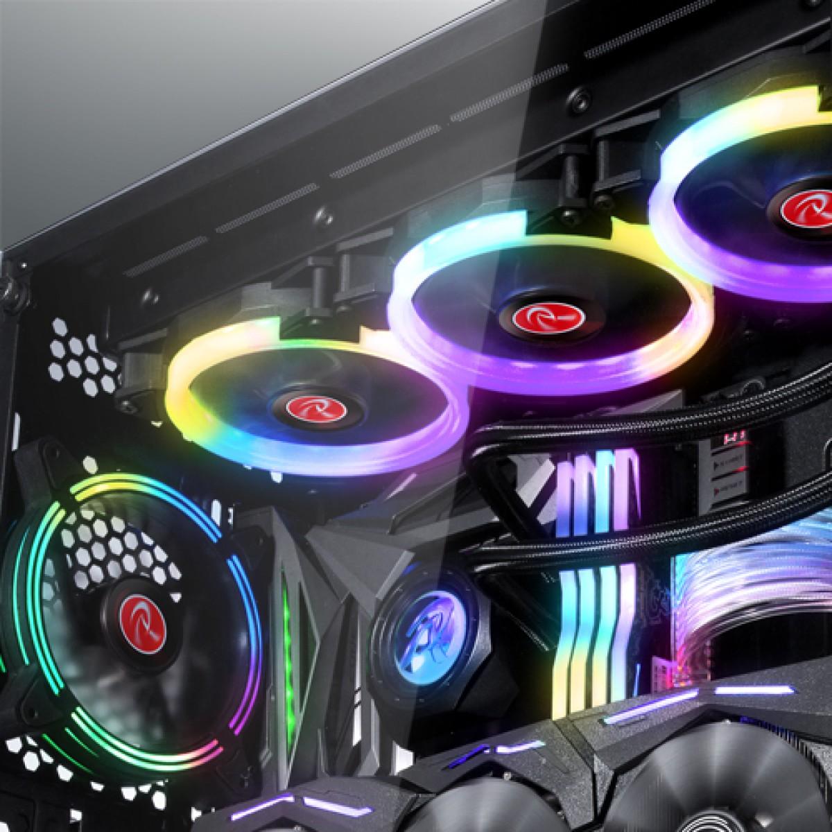 Water Cooler Raijintek ORCUS 140 RBW, 140mm, Intel-AMD, 0R10B00090