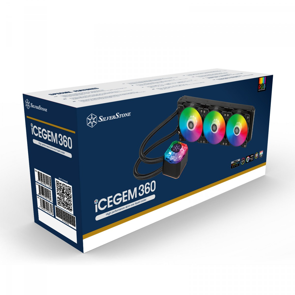 Water Cooler SilverStone IceGem 360, 360mm, Intel-AMD, SST-IG360-ARGB