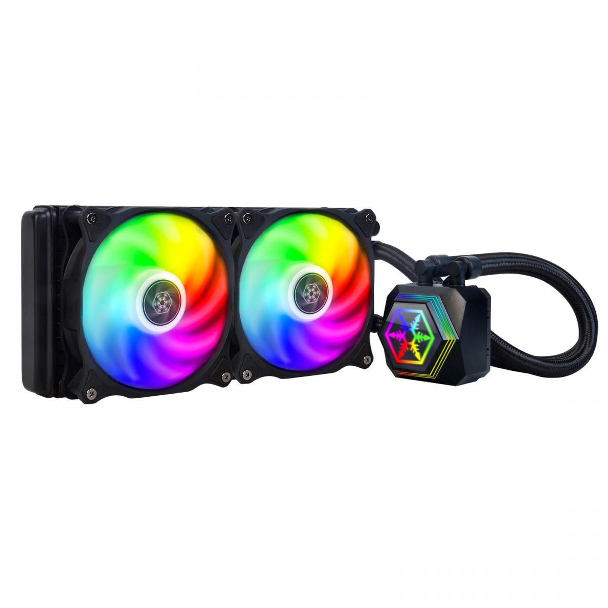 Water Cooler SilverStone PF240-ARGB, 240mm, Intel-AMD, SST-PF240-ARGB - Open Box