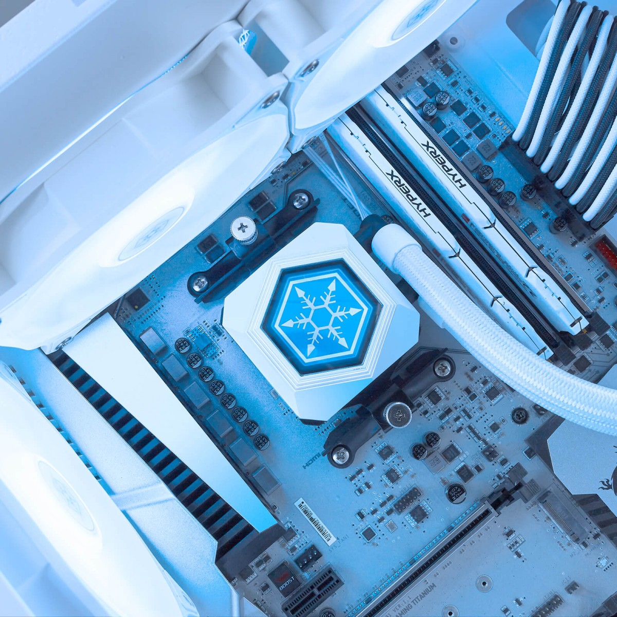 Water Cooler SilverStone PF240W-ARGB, 240mm, White, Intel-AMD, SST-PF240W-ARGB