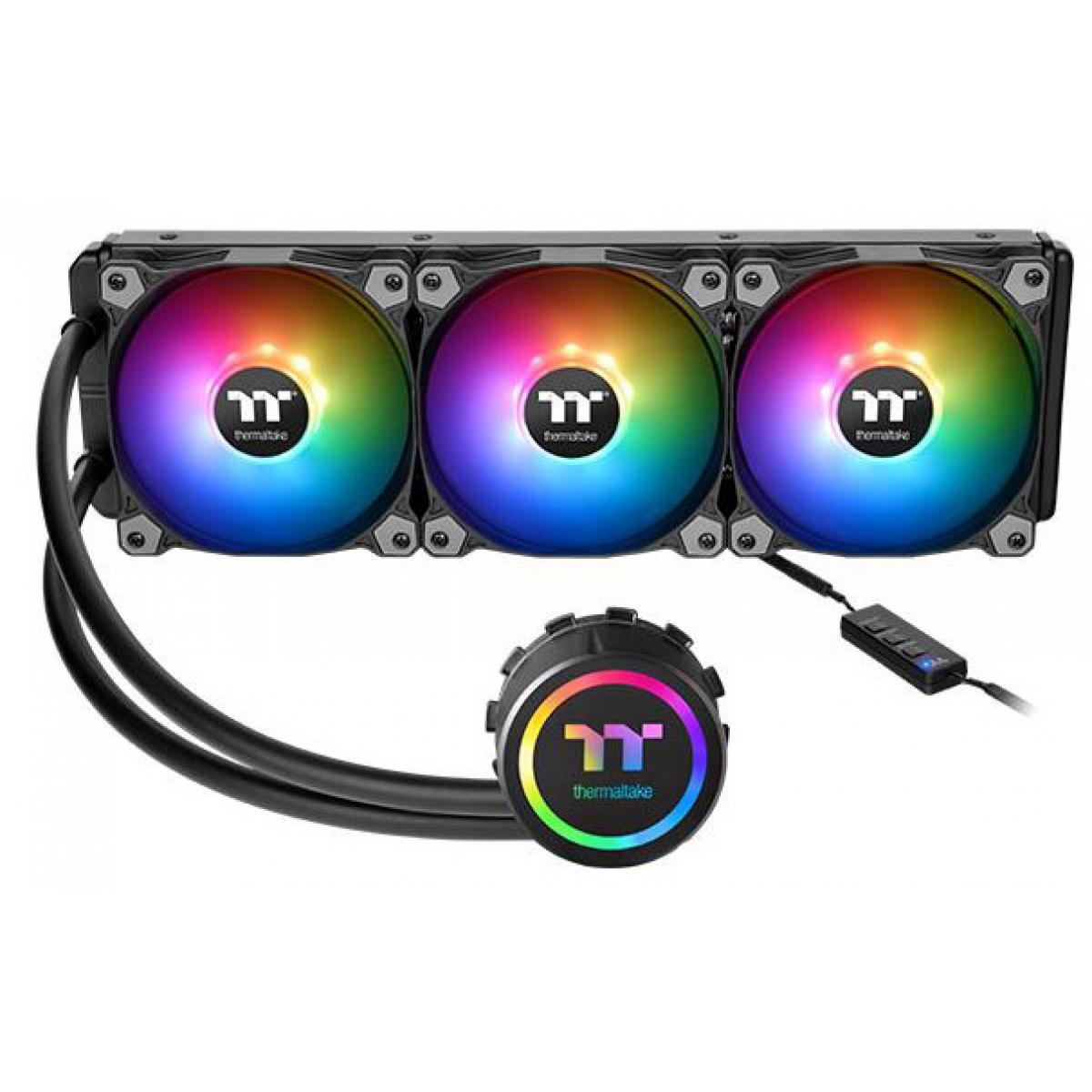 Water Cooler Thermaltake 3.0, ARGB Sync 360mm, Intel/AMD, CL-W234-PL12SW-A
