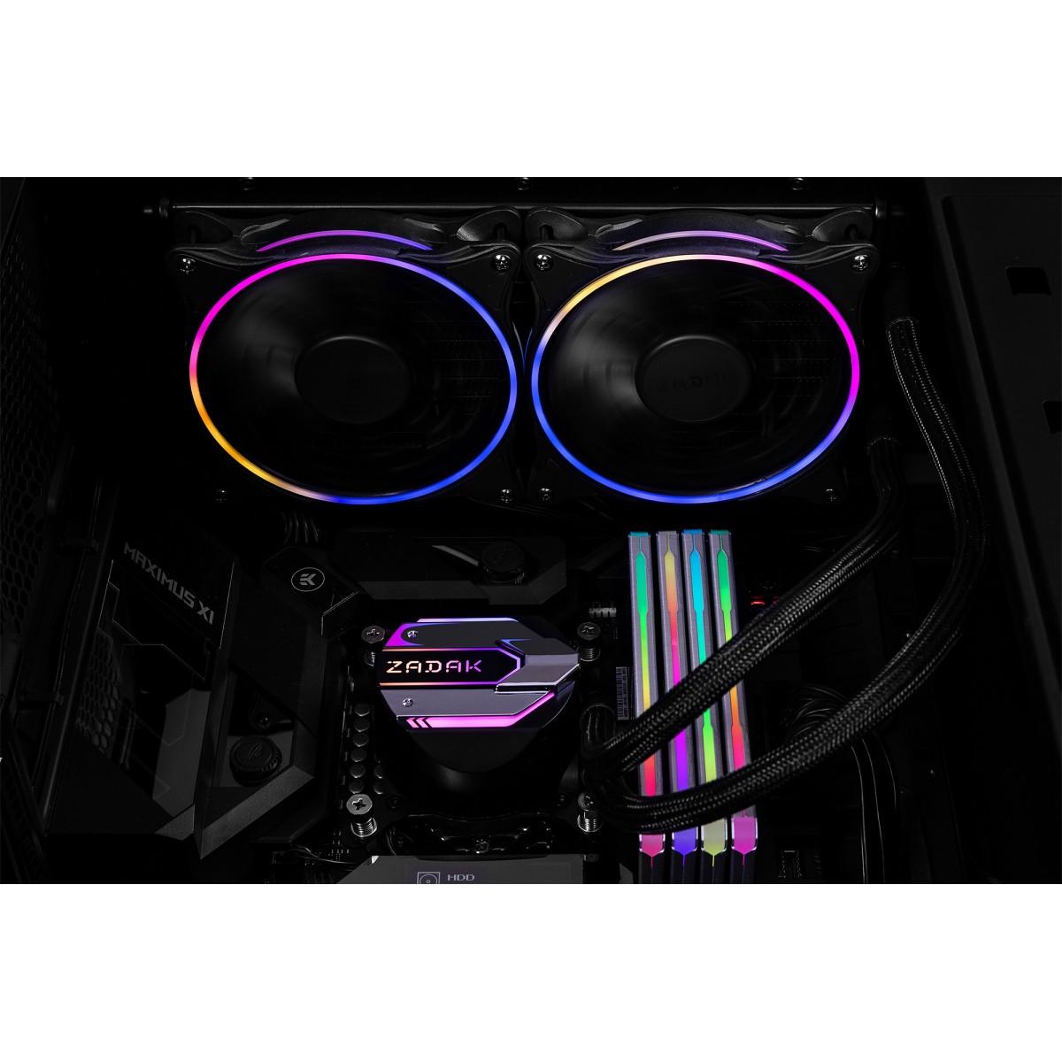 Water Cooler Zadak AIO Lite, RGB 240mm, Intel-AMD, ZA-SPL240AB-R1