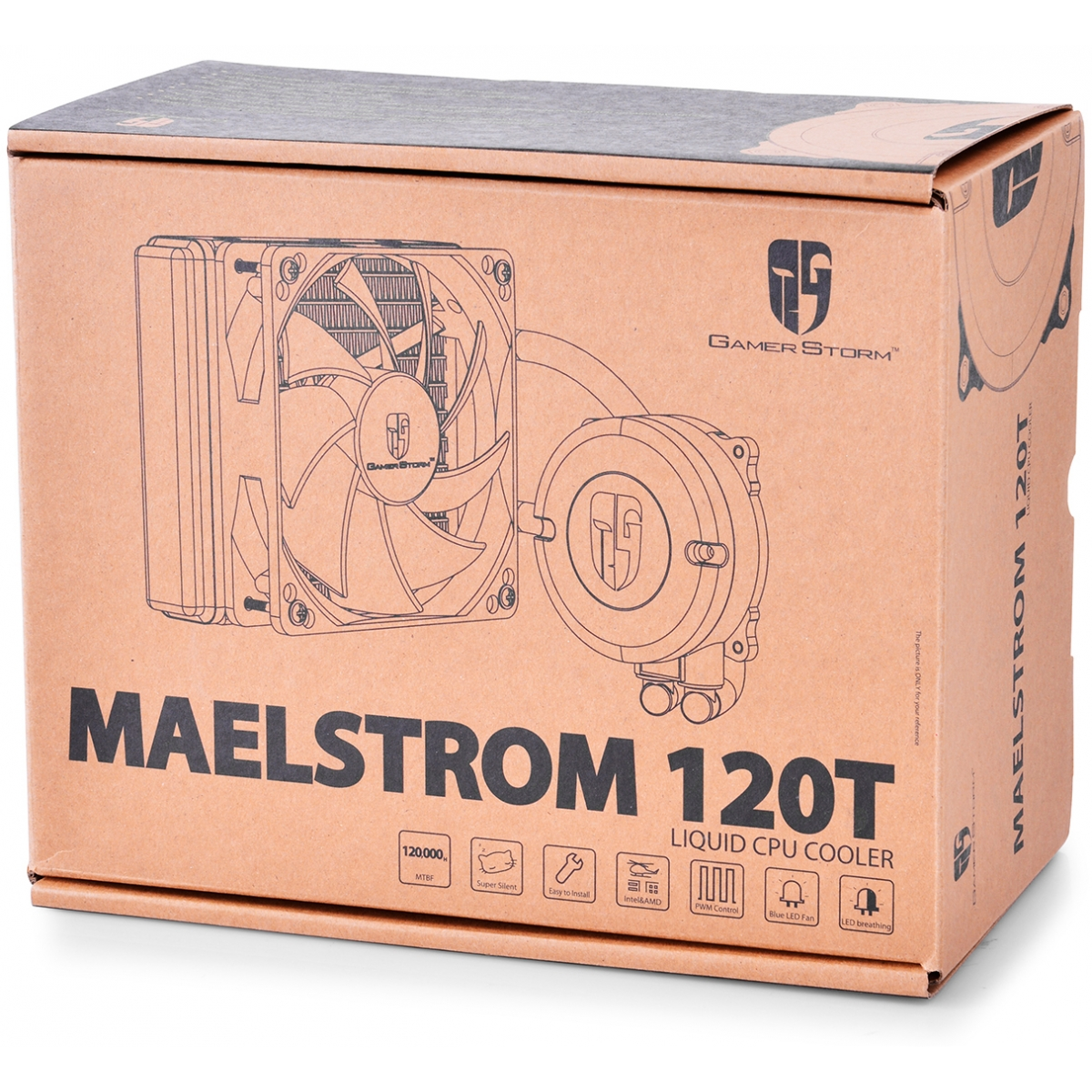 Water Cooler Gamer Storm DeepCool Maelstrom 120T, LED Blue 120mm, Intel-AMD, DP-GS-H12RL-MS120T