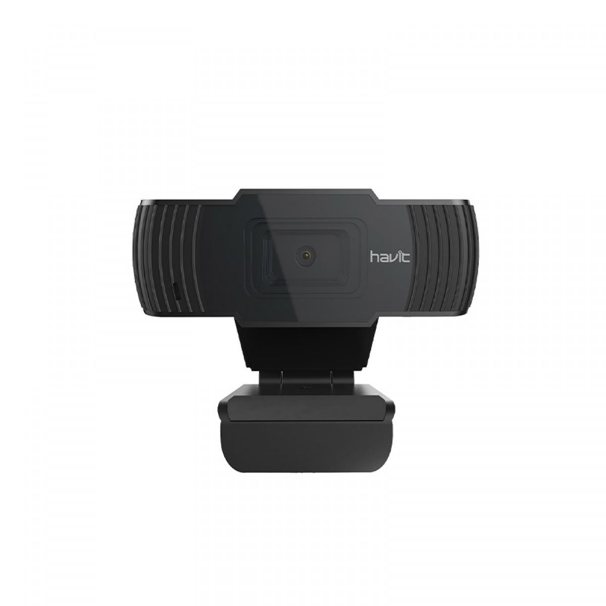 Webcam Havit HV-HN12G, Full HD 1080p, Microfone, HV-HN12G-BK