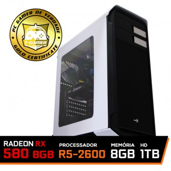 Pc Gamer Ideal 2018 Amd Ryzen 5 2600 / Radeon Rx 580 8Gb / DDR4 8Gb / Hd 1tb / 500W