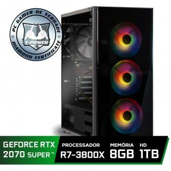Pc Gamer Super Tera Edition AMD Ryzen 7 3800X / GeForce RTX 2070 Super / DDR4 8GB / HD 1TB / 600W