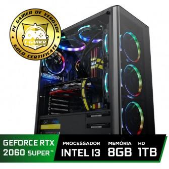 Pc Gamer Super Tera Edition Intel Core i3 9100F / GeForce RTX 2060 Super / DDR4 8Gb / HD 1TB / 500W