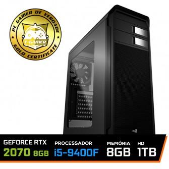 Pc Gamer T-Gamer Edition Intel Core I5 9400F / Rtx 2070 8GB / DDR4 8Gb / Hd 1tb / 600w